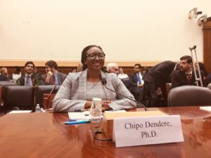 "Chipo testifies at the U.S. Subcommittee on Africa Hearing "" Zimbabwe After Mugabe"""